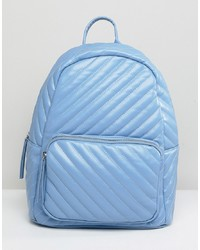 Light Blue Quilted Backpack