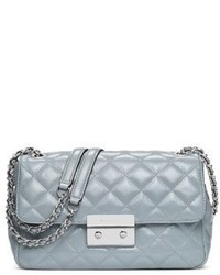 Michl michl kors quilted glossy leather chain shoulder bag medium 734437