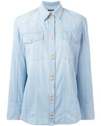 Balmain Quilted Denim Shirt