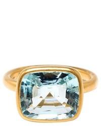 Marie Helene De Taillac 22k Yellow Gold Aquamarine Ring