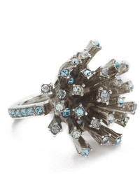 Oscar de la Renta Crystal Firework Ring