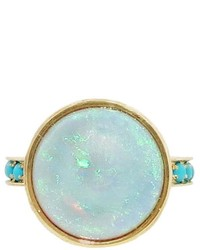 Larisa Laivins Opal Ring With Turquoise Band