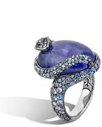 John Hardy Legends Cobra Tanzanite Diamond Ring With Diamonds Size 7