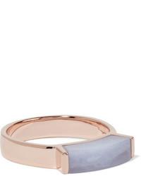 Rose gold vermeil agate ring sky blue medium 1251861