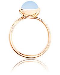 Tamara Comolli Small Bouton Blue Chalcedony Cabochon Ring Size 754