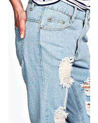Boohoo Sara Relaxed Fit Boyfriend Light Wash Jeans   Where to buy ...