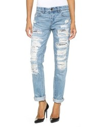 Denim distressed boyfriend jeans medium 151125