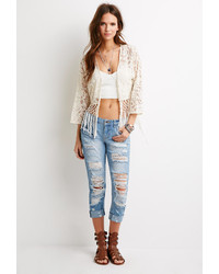 Forever 21 Destroyed Low Rise Jeans