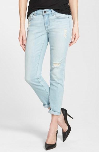 ... Light Blue Ripped Boyfriend Jeans Halogen Distressed Girlfriend Jeans