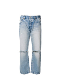 Moussy Vintage Distressed Straight Jeans