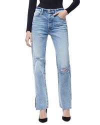 Good American Good Boy High Rise Ripped Boyfriend Jeans