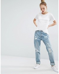 Monki Imoo Distressed Boyfriend Jeans