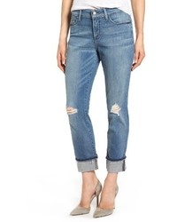 Jessica distressed fray cuff boyfriend jeans medium 3993381