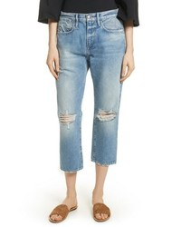 Frame Le Stevie Distressed Crop Jeans
