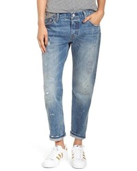 Levis 501 ct distressed boyfriend jeans medium 760033