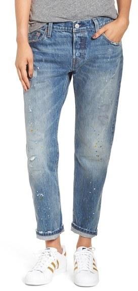 ea41e3ab Levis 501 Ct Distressed Boyfriend Jeans, $198 | Nordstrom ...