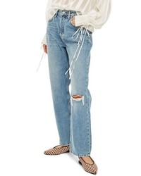 Topshop One Rip New Boyfriend Jeans