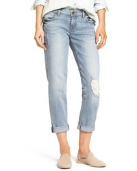 Petite catherine distressed boyfriend jeans medium 4952848