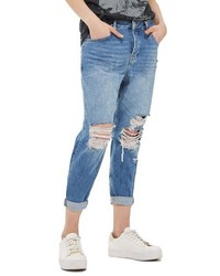 Petite hayden ripped boyfriend jeans medium 3746849