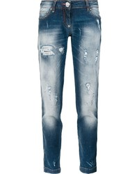 Philipp Plein Distressed Boyfriend Jeans