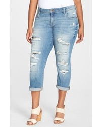 Lucky Brand Plus Size Reese Ripped Boyfriend Jeans