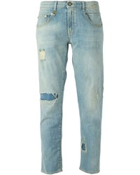R 13 R13 Ripped Boyfriend Jeans
