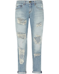 Rag and Bone Rag Bone The Boyfriend Distressed Low Rise Jeans
