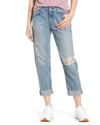 AG The Ex Boyfriend Ripped Crop Slim Jeans