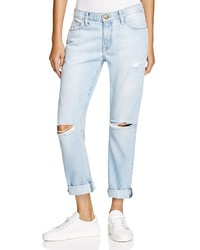 Current/Elliott The Fling Boyfriend Jeans In Moonshine Destroy
