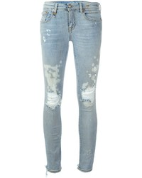 R 13 R13 Distressed Skinny Jeans