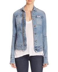 Light Blue Ripped Denim Jacket