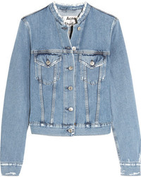 Distressed denim jacket light denim medium 1251977