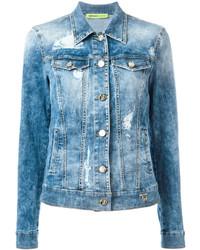 Versace Jeans Distressed Denim Jacket
