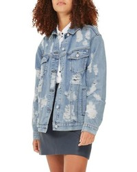 Ripped denim jacket medium 4913243