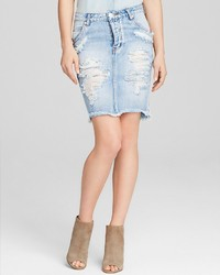 One Teaspoon Skirt 2020 Denim In Hendrix