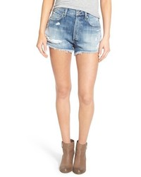 Agolde parker distressed denim shorts medium 464756