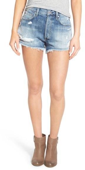 Parker distressed denim shorts - Blue A Gold E 5pCu4zPrC