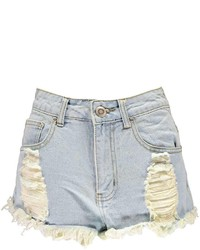 eebeedfe843e Boohoo Carley Light Wash Ripped Denim Hotpants, $26 | BooHoo ...
