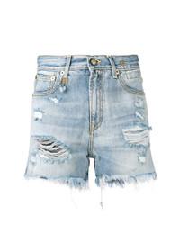 R13 Destroyed Denim Shorts