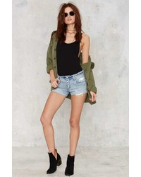 Levi's Distressed 501 Denim Shorts
