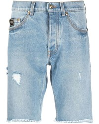 VERSACE JEANS COUTURE Distressed Denim Shorts