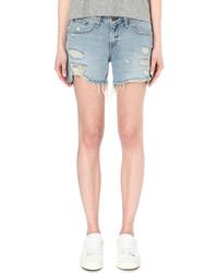 Rag & Bone Distressed Mid Rise Denim Shorts