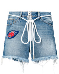 Off-White Distressed Shorts