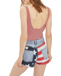 Flag ripped mom shorts medium 4354661