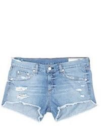 Rag & Bone Jean Distressed Cutoff Denim Shorts