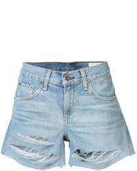 Rag & Bone Jean Ripped Denim Shorts