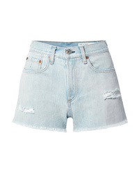 Rag & Bone Justine Distressed Denim Shorts