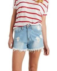 Charlotte Russe Machine Jeans High Rise Denim Shorts