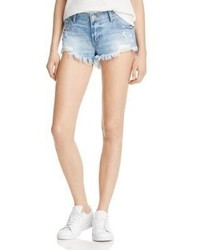 Pistola Gigi Low Rise Denim Shorts In High Tide