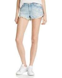 Pistola Kel Low Rise Denim Shorts In Cross My Heart 100%
